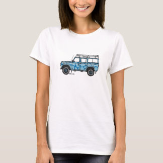 T-shirt with tough print of Defender in blue