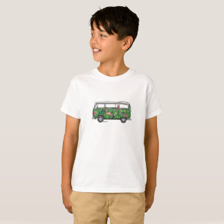 T-shirt with tropical of