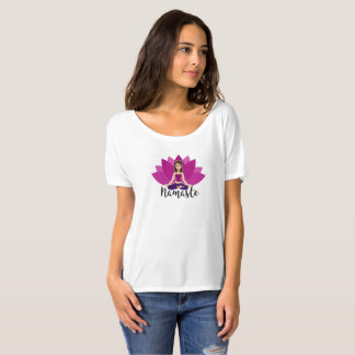 T-Shirt with Yoga girl in padmasana