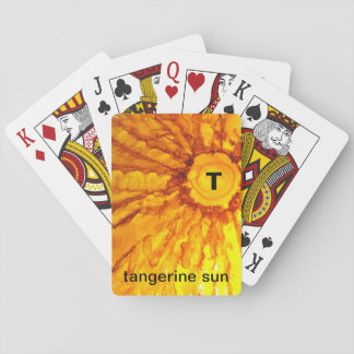 T - Tangerine Sun alphabet art playing cards
