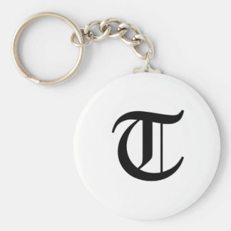 T-text Old English Key Chain