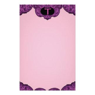 T - The Falck Alphabet (Pink) Custom Stationery