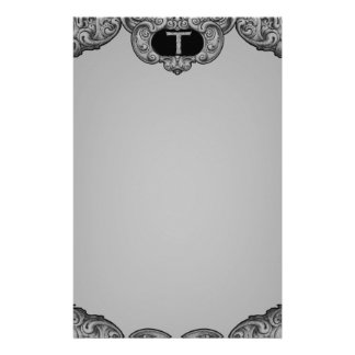 T - The Falck Alphabet (Silvery) Stationery Design