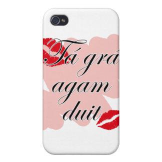 Tá grá agam duit - Irish Gaelic I love you iPhone 4/4S Cover
