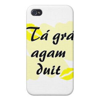 Tá grá agam duit - Irish Gaelic I love you iPhone 4/4S Covers