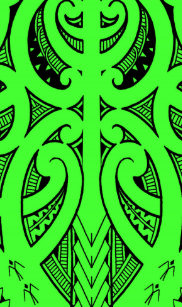 0b38f89b2 Ta Moko traditional Maori tattoo design koru shape iPhone 5C Case