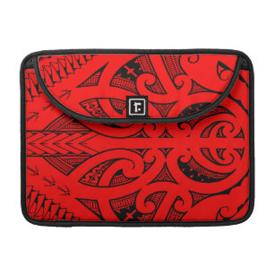 e4e907200 Ta Moko traditional Maori tattoo design koru shape Sleeve For MacBook Pro