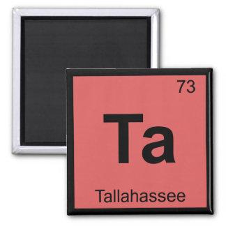 Ta - Tallahassee Florida Chemistry Symbol Square Magnet