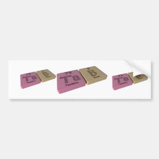 Tab as Ta Tantalum and B Boron Bumper Sticker