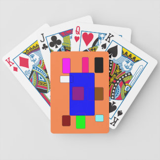 Tab – Colorful Abstract Art on Orange Background Bicycle Playing Cards