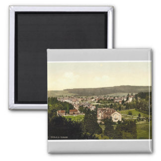 Tabarz, Thuringia, Germany rare Photochrom Square Magnet