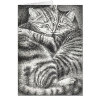 TABBY CAT AFFECTION CARD