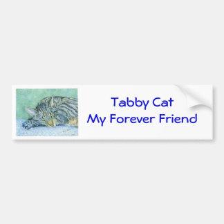 Tabby Cat Bumper Sticker