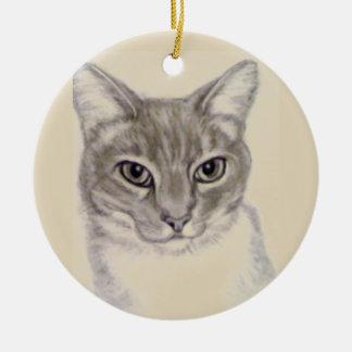 Tabby Cat by Carol Zeock Ceramic Ornament