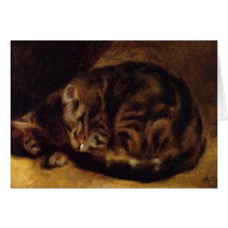 Tabby Cat by Renoir Card