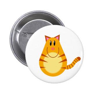 Tabby Cat Cartoon 6 Cm Round Badge