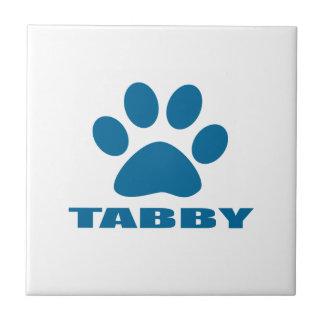 TABBY CAT DESIGNS CERAMIC TILE
