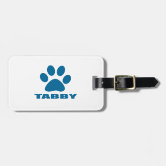 TABBY CAT DESIGNS LUGGAGE TAG