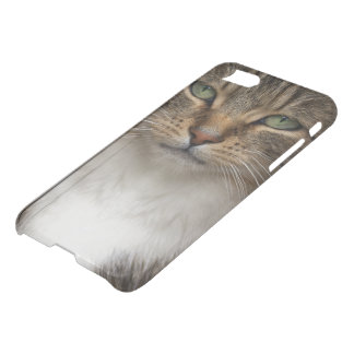 Tabby Cat Face iPhone 7 Clearly™ Deflector Case