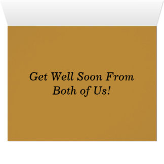 Tabby Cat Get Well Soon Greeting Card