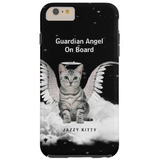 Tabby Cat Guardian Angel with Wings Tough iPhone 6 Plus Case
