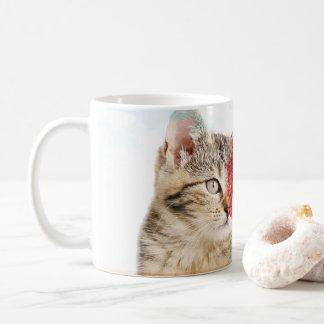 tabby cat heart mug