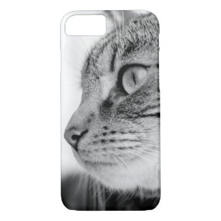 Tabby Cat in Black and White iPhone 7 Case