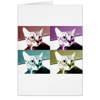 Tabby Cat - Pop Art Card