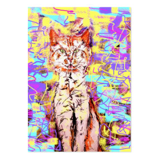 tabby cat popart business card templates