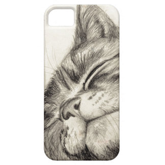 tabby cat scritching iPhone 5 case