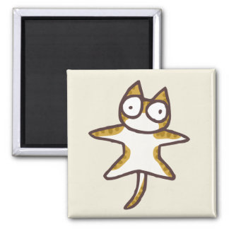Tabby Cat Square Magnet