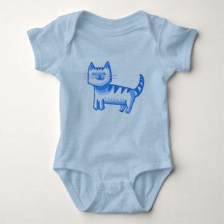 tabby cat sweet graphic design cartoon style baby bodysuit