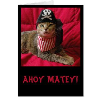 Tabby Cat Talk LIke a PIrate Day card