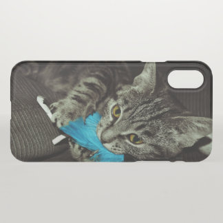 Tabby Cat with Feather by Shirley Taylor iPhone X Case