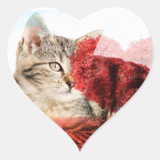 Tabby heart stickers