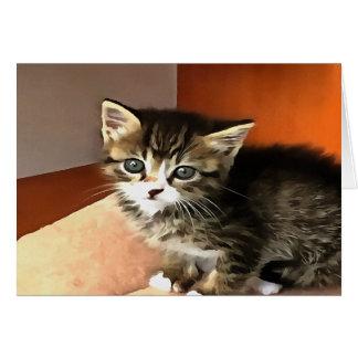 Tabby Kitten Named Miss Pip Squeak Card