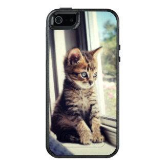 Tabby Kitten Watching OtterBox iPhone 5/5s/SE Case