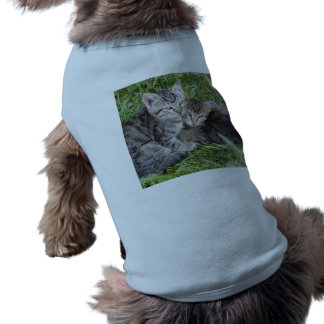 Tabby Sisters Doggie Ribbed Tank Top Sleeveless Dog Shirt