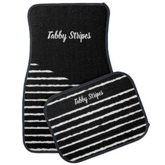 Tabby Stripes Car Mat