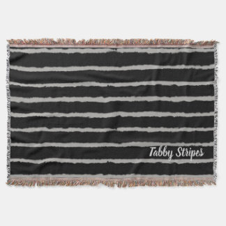 Tabby Stripes Throw Blanket