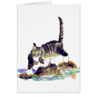 Tabby Trek - Tiger kitty's Adventure Card
