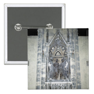 Tabernacle with Four Crowned Saints Pinback Button