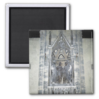 Tabernacle with Four Crowned Saints Square Magnet