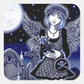 """Tabitha"" Blue Gothic Angel Art Sticker"
