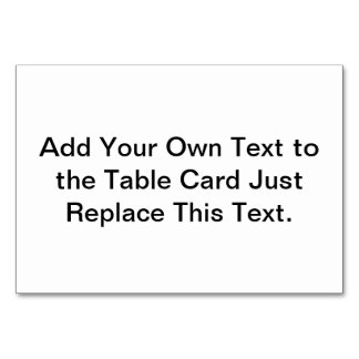 Table Card Create Your Own