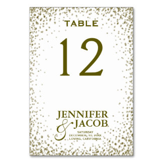 Table Card | Glitter Confetti
