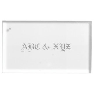 Table Card Holder Monogram