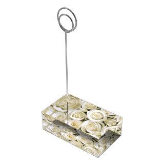 Table Card Holder-White Roses Table Card Holder