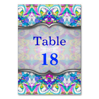 Table Card Indian Style