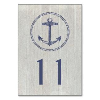 Table Card | Nautical Weathered Wood